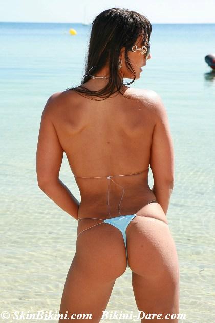 black lycra mini bikini