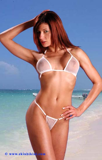 white see through micro bikini from skinbikini.com