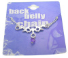 PL-MN201 - Gotham Bat Back Belly Chain Non-Piercing Body Jewelry