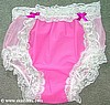 M1303 - LATEX RUBBER Front Mesh Back SISSY PANTIES ADULT BABY