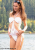 C-41471 - O Ring Bandeau Diamond Shape Crochet Monokini