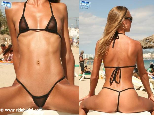 BY-0503 - Extreme Micro Mesh Sheer See-Thru G-String Bikini