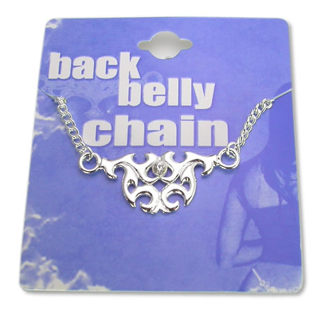 tribal charm non-piercing back belly chain body jewlery