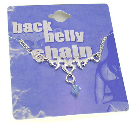 bats arm non-piercing back belly chain body jewelry
