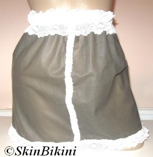 M-1313 Latex Rubber Sissy Skirt For Sissy Panties