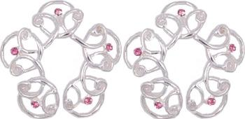 NR-001 Pink Gem Celtic Design NON-PIERCING Nipple Rings