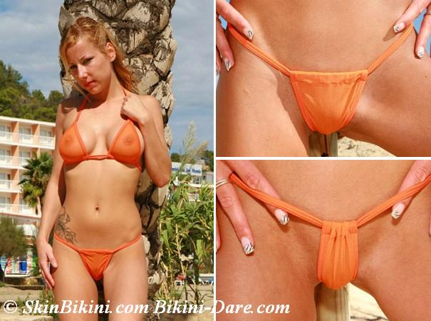 BY-0512 - Skimpy Micro-Mini G-String Bikini Adjustable Bottom