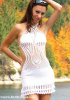 C-41161 - Retro Hand Crochet Mini Dress Leaf