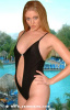 BY-0632 Sexy Oval Front Cut Clip-On Swimwear
